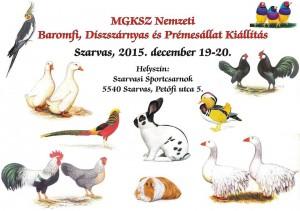 Díszbaromfi kiállítás Szarvas